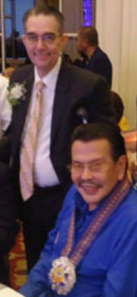 "Honorable Manila Mayor Joseph ""Erap"" Estrada with Mr. Ramon CF Cuervo III"
