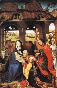 """""""Adoración de los Magos"""" de Roger Van der Weyden"""