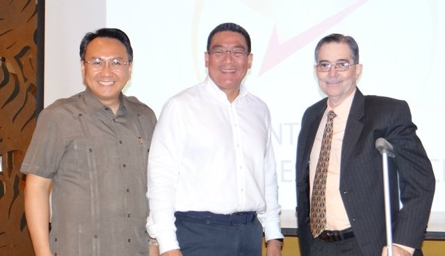 From Left: Mr. Henry B. Aquende, Founder and President of Center for Global Best Practices, former Justice Secretary Atty. Alberto C. Agra, President of Forensic Law and Policy Strategies, and Board Member Professional Regulatory Board Real Estate Service, Realtor/Appraiser Mr. Ramon CF Cuervo III
