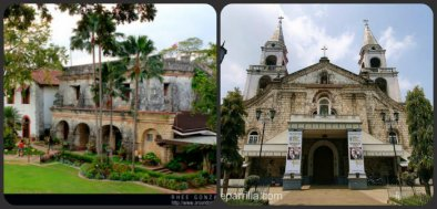 (left)Fort San Pedro, (right) The National Shrine of Our Lady of the Candles Photo source: www.aroundcebu.com;vigattintourism.com